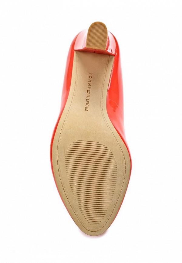 фото Туфли на каблуке Tommy Hilfiger TO263AWAVI49, красные кожаные (лак)