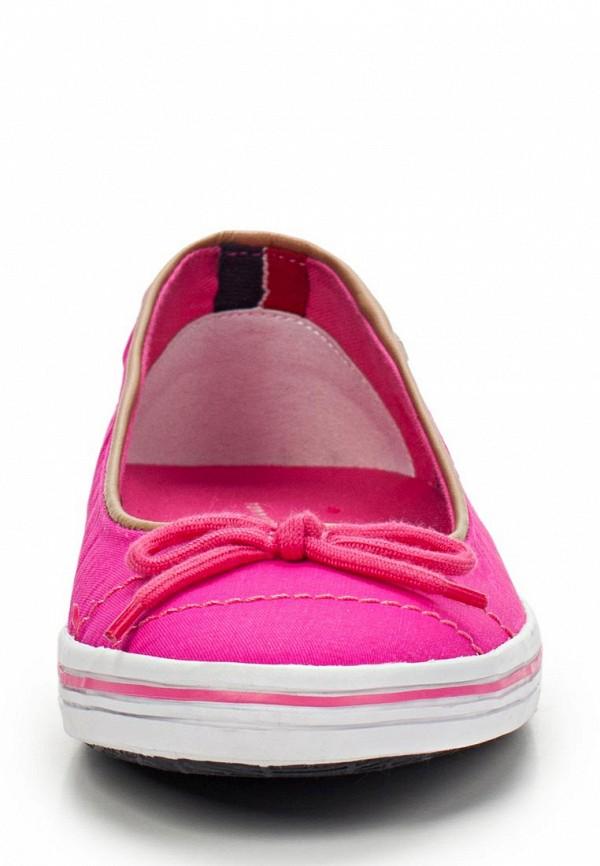 фото Балетки женские Tommy Hilfiger, ярко-розовые (текстиль цвета фуксия)