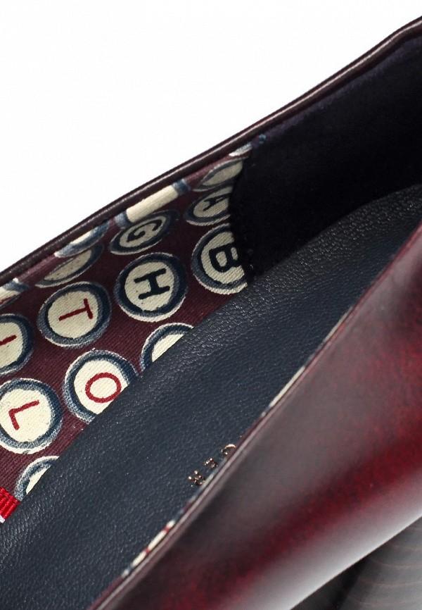 фото Туфли-лоферы на платформе Tommy Hilfiger TO263AWJT439, бордово-черные