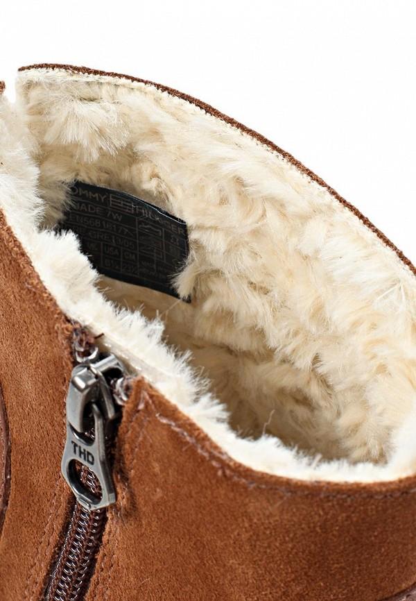 фото Ботильоны на толстом каблуке Tommy Hilfiger TO263AWJT535, коричневые