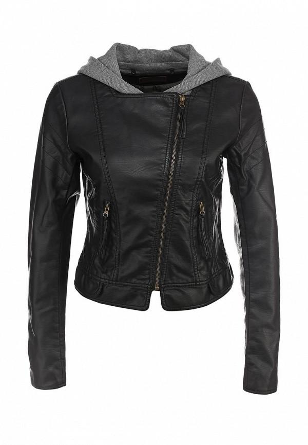 Куртка кожаная Tom Tailor Denim TO793EWJF108. Цвет: черный