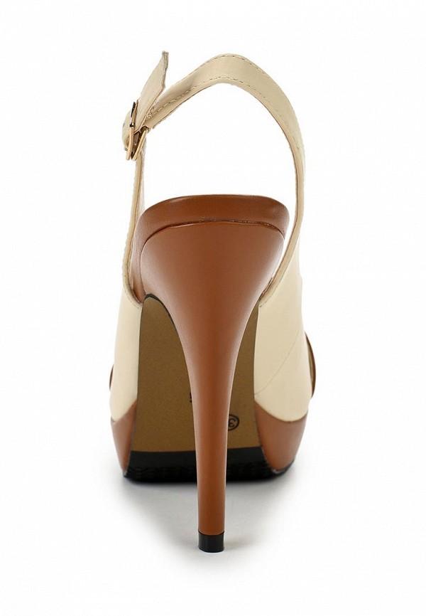 фото Босоножки на каблуке T.Taccardi by Kari TT001AWAMC34, коричнево-бежевые
