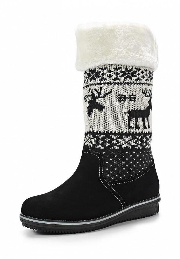 фото Сапоги женские без каблука T.Taccardi for Kari TT001AWCJP65, черные/белые