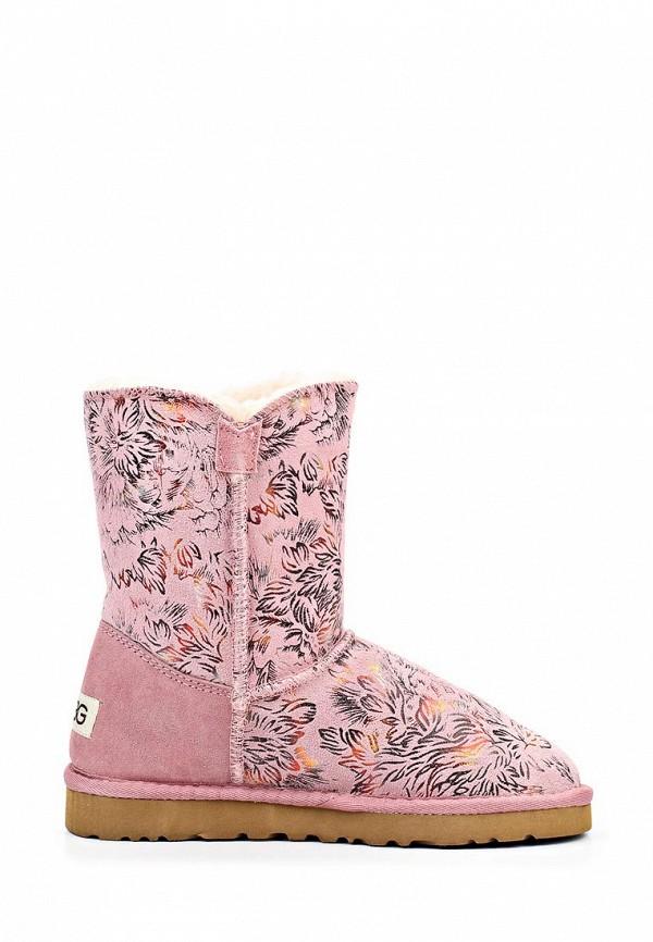 фото Женские угги UBG UB002AWLJ486, розовые/мультицвет
