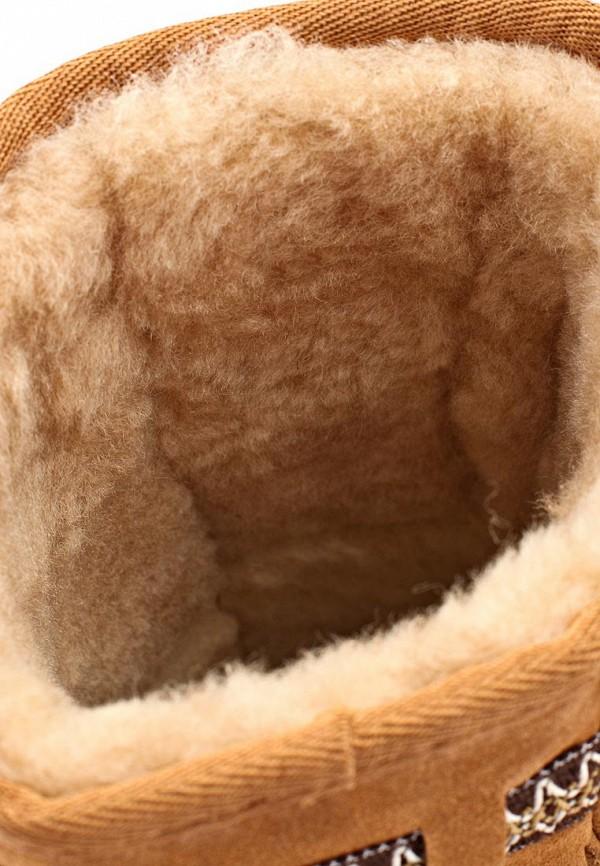 фото Женские угги UBG UB002AWLJ488, светло-коричневые с бахромой