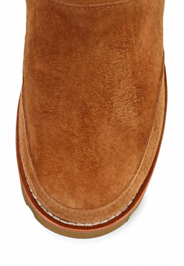 фото Женские полусапожки UGG Australia UG174AWJH033, коричневые без каблука