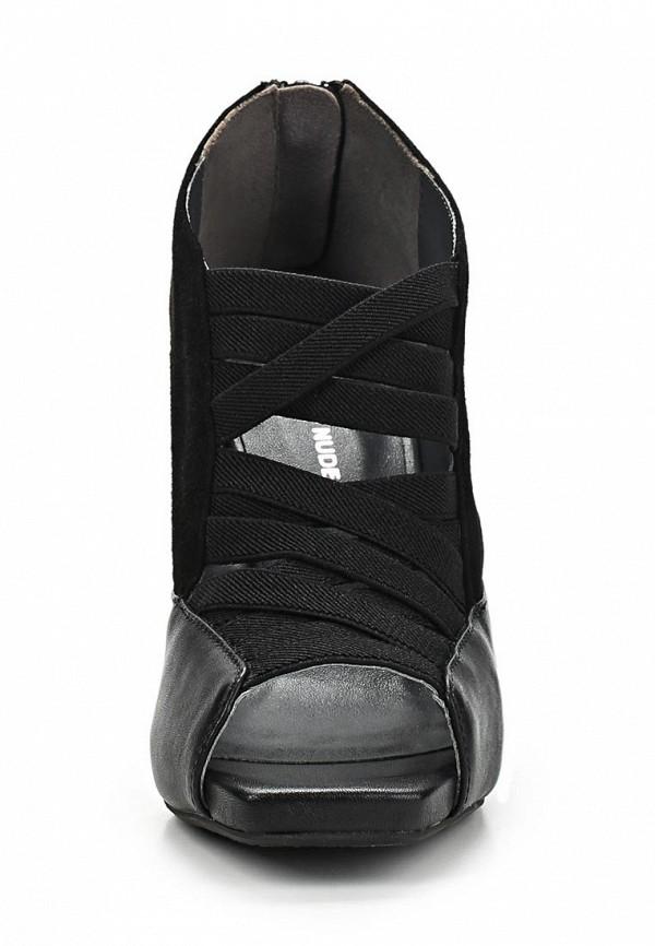 фото Ботильоны на каблуке United Nude UN175AWAIP14, черные с открытым носом