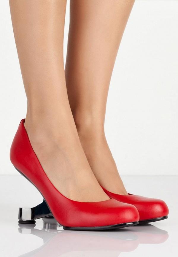 фото Туфли на каблуке United Nude UN175AWAXN68, красные кожаные