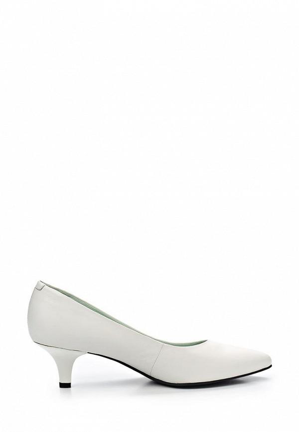 фото Туфли на низком каблуке Vagabond VA468AWAWZ36, белые кожаные