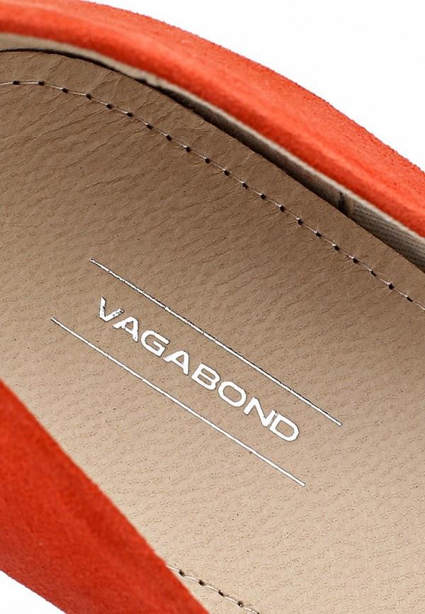 фото Туфли на танкетке Vagabond VA468AWAWZ55, оранжевые замшевые