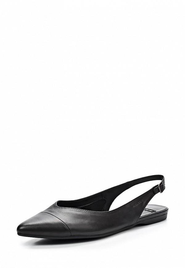 фото Балетки женские Vagabond VA468AWAWZ59, черные с открытой пяткой