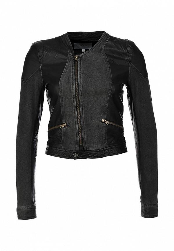 Джинсовая куртка Vila VI004EWIM805. Цвет: серый, черный