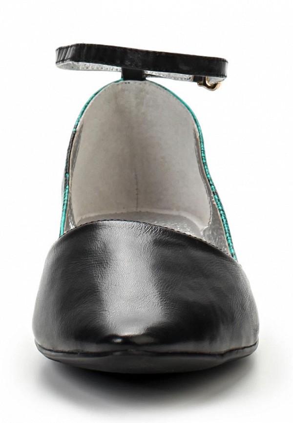 фото Балетки женские Vitacci VI060AWAJU37, черные/зеленые