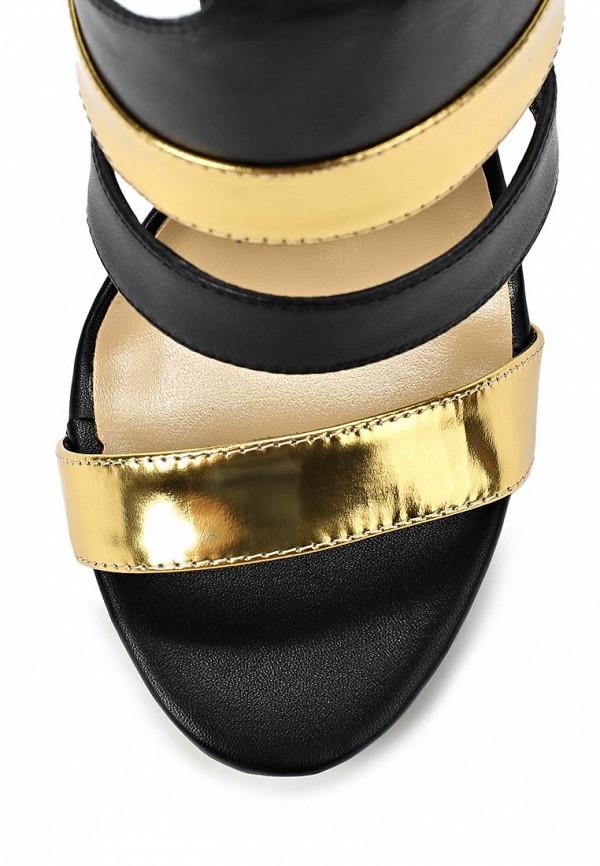 фото Босоножки на шпильке Vitacci VI060AWAJV05, черно-золотые