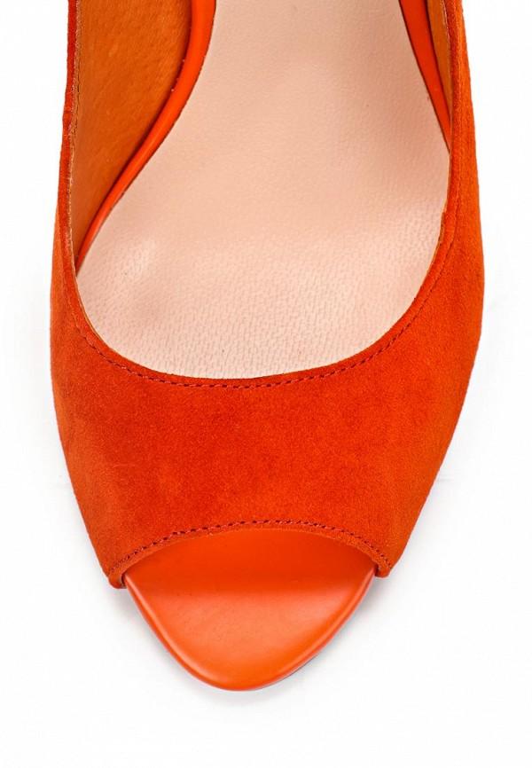 фото Туфли на каблуке с открытым носом Vitacci VI060AWAJV24, оранжевые замшевые
