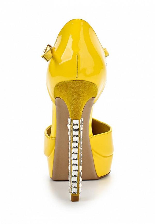 фото Туфли на платформе и высоком каблуке Vitacci VI060AWAJV28, желтые