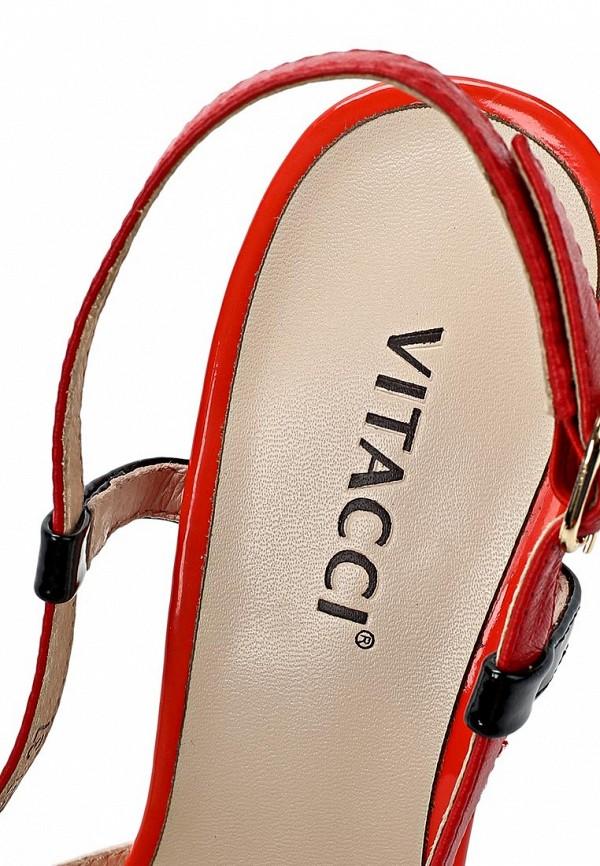 фото Босоножки с закрытым носом Vitacci VI060AWAJV31, мультицвет/каблук