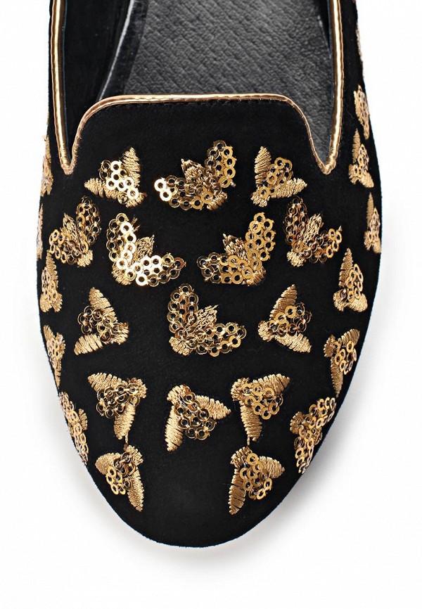 фото Лоферы женские Vitacci VI060AWAJV65, черные/золото