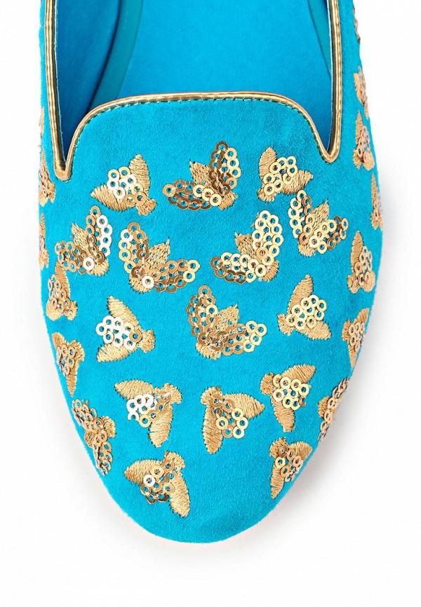 фото Лоферы женские Vitacci VI060AWAJV68, голубые/золото