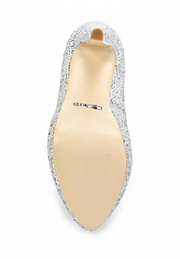 фото Туфли на платформе и каблуке Vitacci VI060AWAJW14, серебристые со стразами