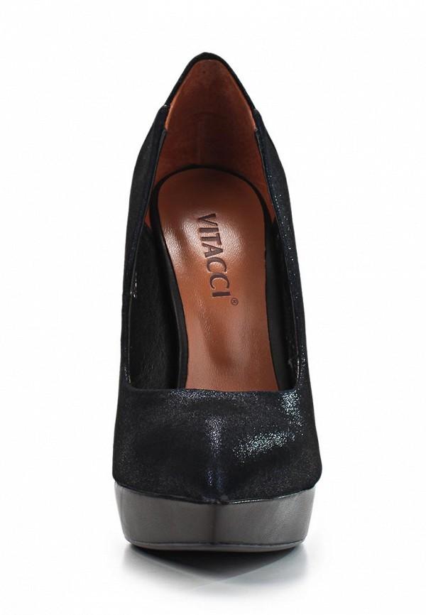 фото Туфли на платформе и шпильке Vitacci VI060AWAJW27, синие кожаные