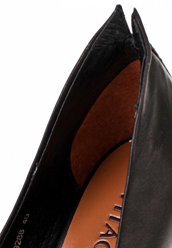 фото Туфли на каблуке и платформе Vitacci VI060AWAJW28, черные (кожа)
