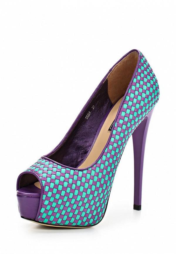 фото Туфли на платформе и шпильке Vitacci VI060AWAJW31, фиолетово-голубые