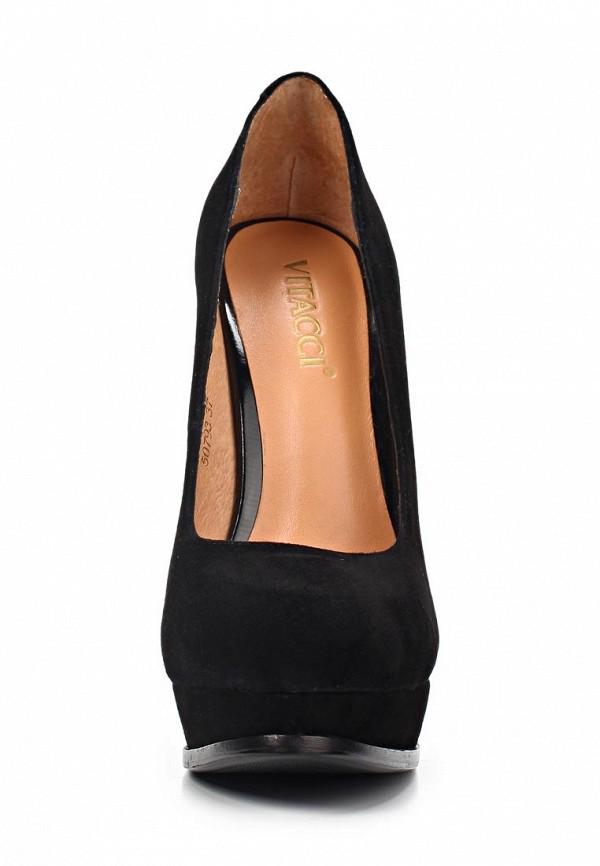 фото Туфли на платформе и высоком каблуке Vitacci VI060AWAJW41, черные
