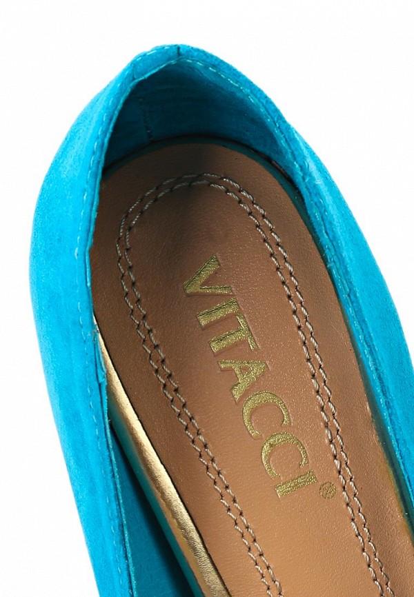 фото Туфли на платформе и высоком каблуке Vitacci VI060AWAJW48, голубые