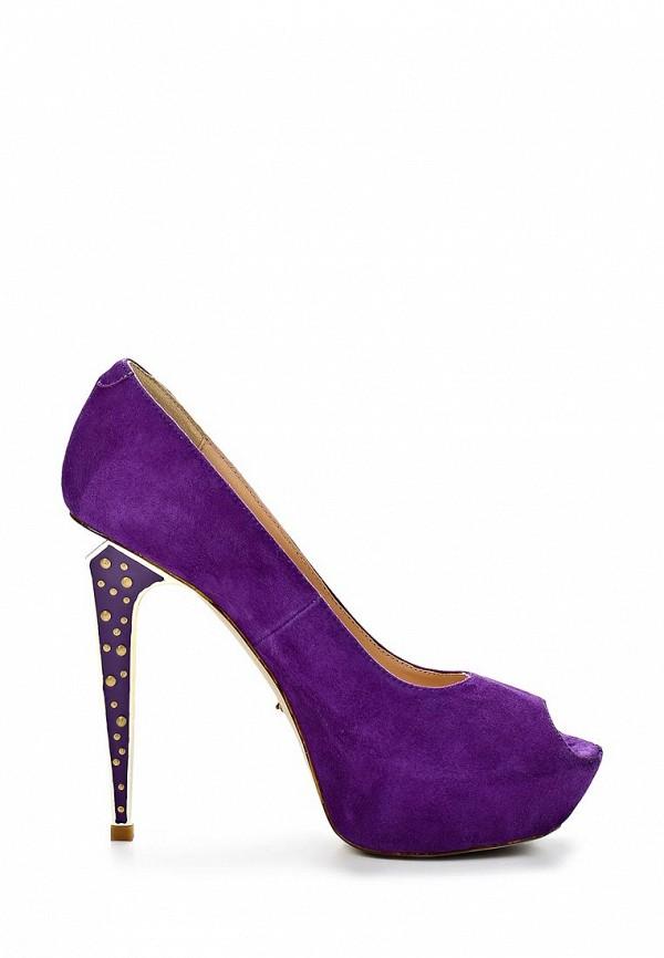 фото Туфли на платформе и каблуке Vitacci VI060AWAJW51, фиолетовые (замша)
