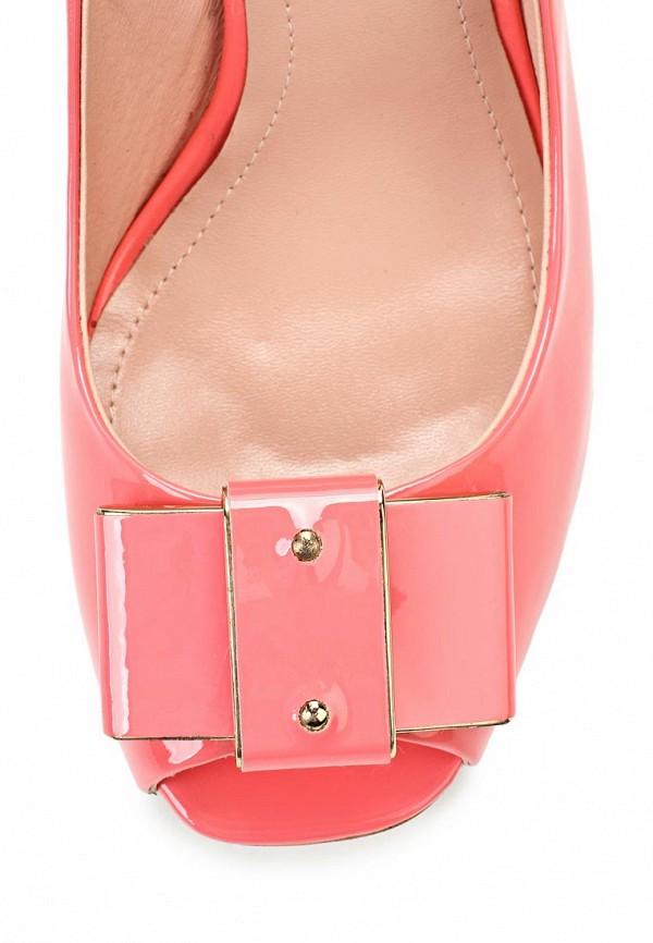 фото Туфли на толстом каблуке Vitacci VI060AWAJW65, розовые (лаковая кожа)