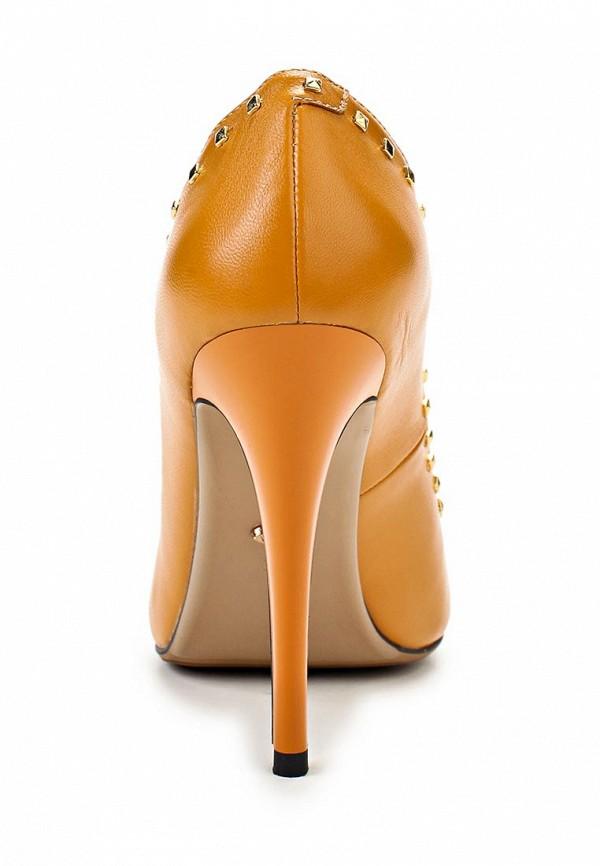 фото Туфли на  высоком каблуке Vitacci VI060AWAJW71, желтые кожаные