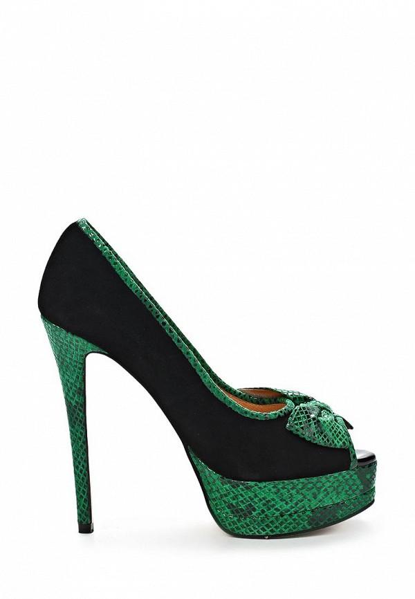 фото Туфли на платформе с открытым носом Vitacci VI060AWBCX50, черно-зеленые