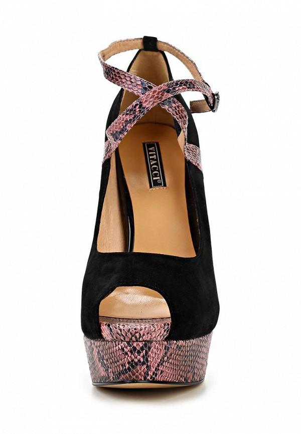 фото Туфли на платформе и высоком каблуке Vitacci VI060AWBCX53, черные
