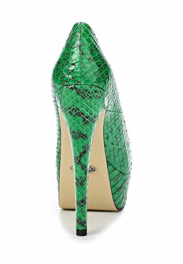 фото Туфли на платформе и высоком каблуке Vitacci VI060AWBCX62, зеленые кожаные