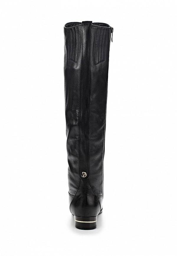 фото Сапоги женские на каблуке Vitacci VI060AWCJD17, черные кожаные