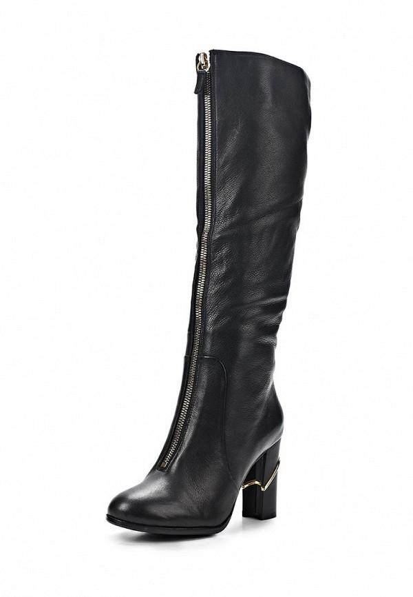 фото Сапоги женские на каблуке Vitacci VI060AWCJF48, черные кожаные