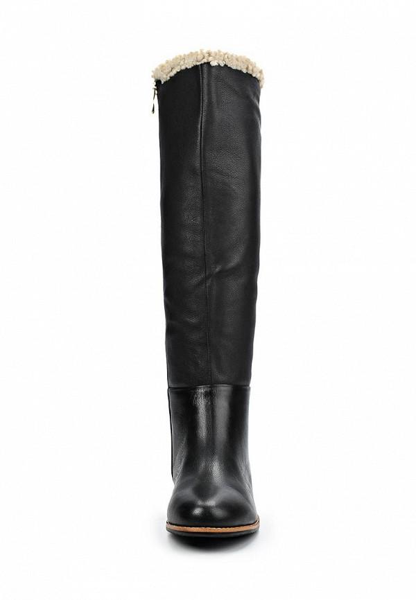 фото Сапоги женские на танкетке Vitacci VI060AWCJF51, черные кожаные