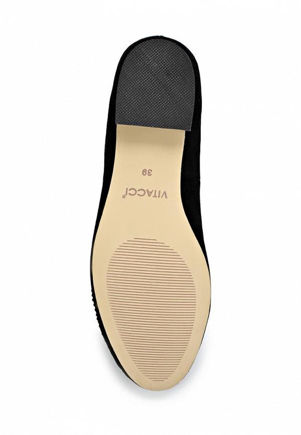 фото Лоуферы на низком каблуке Vitacci VI060AWCJF65, черные