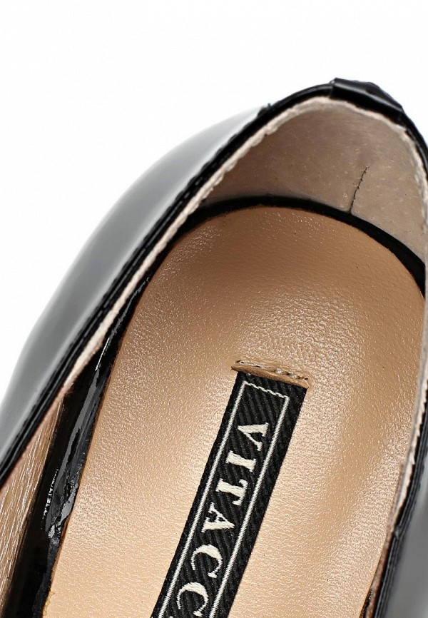 фото Туфли на толстом каблуке Vitacci VI060AWCJF67, черные лаковые