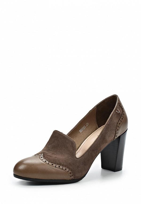 фото Туфли-лоферы на толстом каблуке Vitacci VI060AWCJF69, коричневые