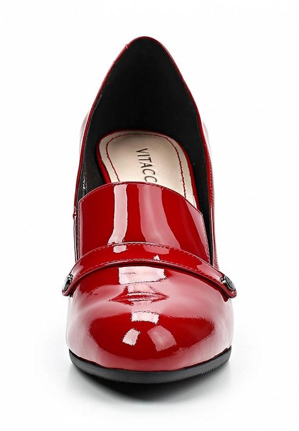 фото Туфли-лоферы на каблуке Vitacci VI060AWCJF70, красные лаковые