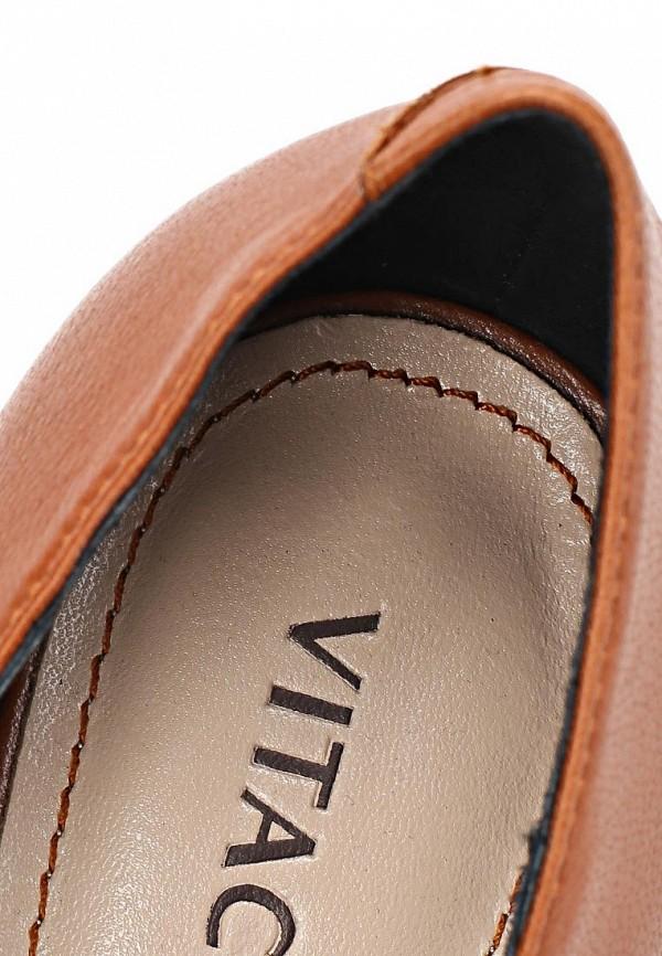 фото Ботильоны на толстом каблуке Vitacci VI060AWCJF71, коричневые
