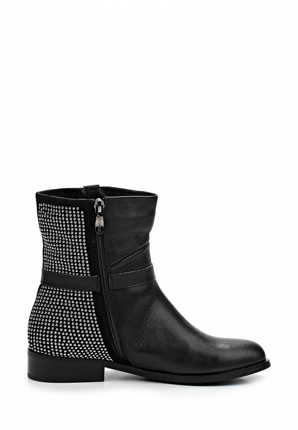 фото Женские полусапожки на низком каблуке Vitacci VI060AWCJF79, черные