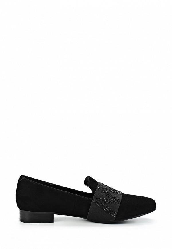 фото Лоферы женские Vitacci VI060AWCNF15, черные/каблук