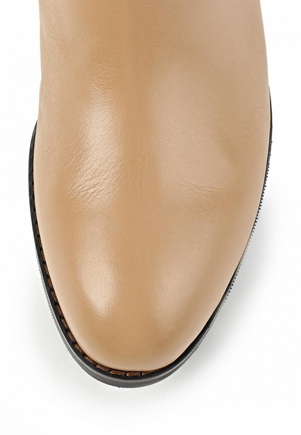 фото Женские сапоги-ботфорты Vitacci VI060AWCNF18, бежевые кожаные
