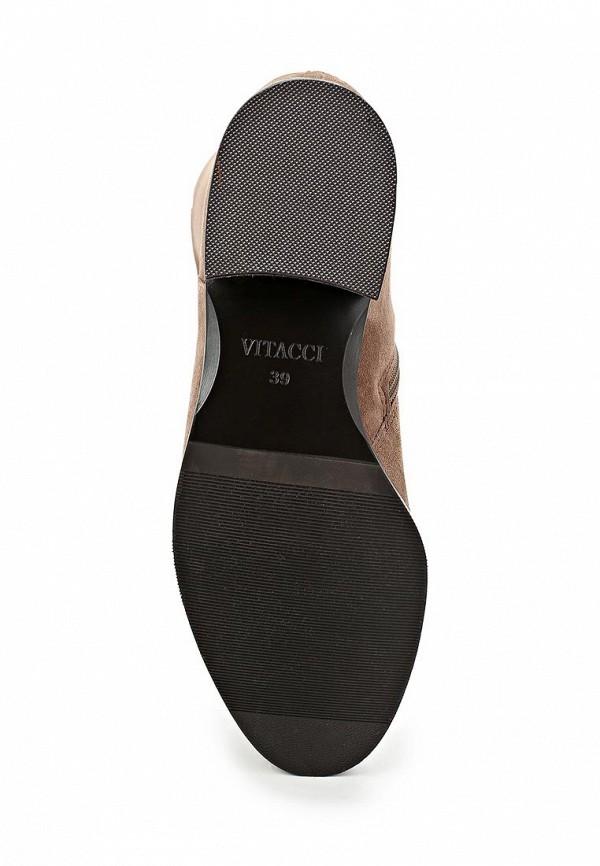 фото Женские сапоги-ботфорты Vitacci VI060AWCNF19, бежевые/каблук