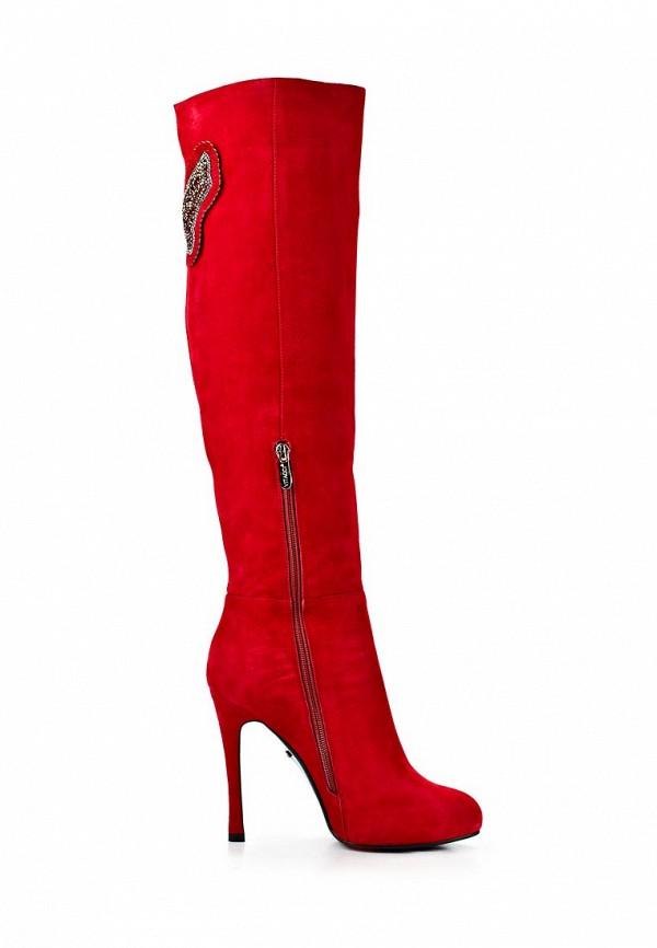 фото Демисезонные ботфорты на шпильке Vitacci VI060AWCNV40, красные