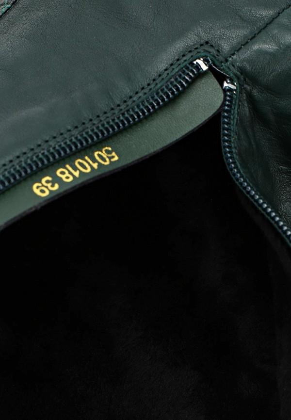 фото Женские сапоги-ботфорты Vitacci VI060AWCNV46, темно-зеленые (кожа)