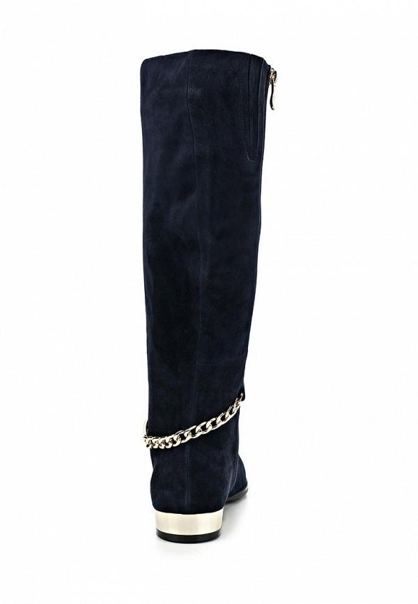 фото Сапоги женские на низком каблуке Vitacci VI060AWCNV50, синие замшевые